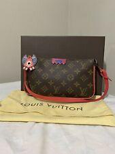 Authentic Louis Vuitton  Monogram Totem Pochette Accessories Flamingo Bag