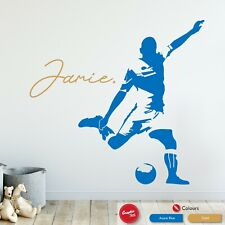 Football Personalised Wall Art Sticker Children's Sports Bedroom Vinyl Decal