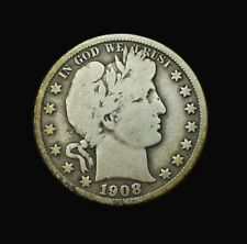 1908-D Barber Half Dollar~G/Vg~Good/Very Good~90% Silver~Combined Shipping~