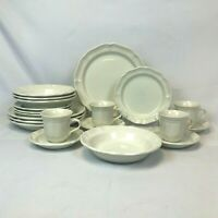 20 PIECE SET MIKASA FRENCH COUNTRYSIDE DINNER SALAD PLATES CUPS BOWLS FREE SHIP
