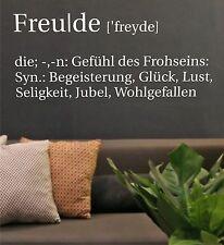 Wandtattoo Wandaufkleber Spruch Freude - Einfarbig Motiv: A005