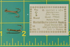 20 Mustad Liver Shad  Fishing Hooks Double w/Safety Pin 79041 Size 10