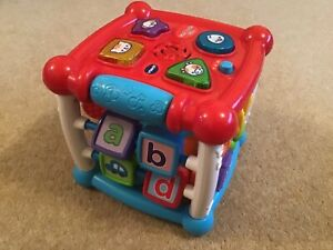 Vtech turn and learn cube baby toy with lights and sound