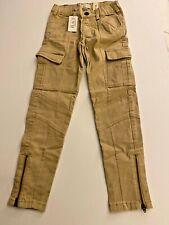 Nwt Sz 6 Childrens Place Khaki Cargo Bottom Zip Skinny Pants/6 Pockets/New!