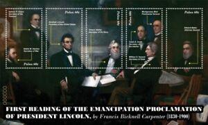 Palau - 2011 - President Abraham Lincoln - Sheet of Five  - MNH