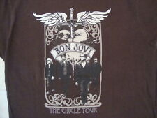 Bon Jovi The Circle Concert Tour Classic Rock Music Singer Soft Brown T Shirt XL