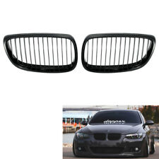 Pair of Gloss Black Kidney Grille for BMW E92 E93 3 Series Coupe Cabriolet 06-09