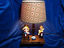 Vintage Nursery Lamp with Music Box Girl Rocking Chair Boy Cat EXCELLENT Working