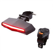 UK!Bicycle Bike Indicator LED Rear Tail Light Wireless Remote Control Waterproof