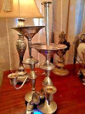 Sterling Silver Scrap Salt Pepper Vase Compotes Candlesticks 1516 Grams Weighted