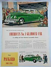 1946 Paper Advertisement Packard Clipper Car Print Ad Automobilia 5621F