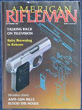 Magazine American Rifleman, SEPTEMBER 1990 !!! BROWNING Buck Mark 5.5 PISTOL !!!