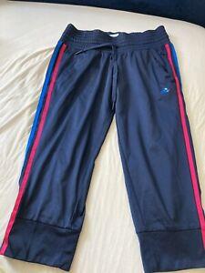 Adidas 3/4 shorts Pants Jogging Bottoms Blue UK 8-10 S Women Sports Dance Yoga
