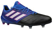 Adidas ACE 17.1 FG Fußballschuhe Leder schwarz blau Nocken BB0463 Gr. 42
