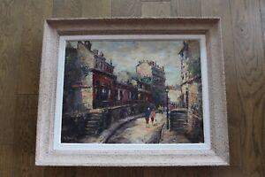 Georges GUÉRIN Huile sur toile rue Saint-Vincent Montmartre