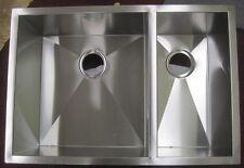 """Vigo VG2920BL  29"""" Stainless Steel Double Bowl Kitchen Sink 16 Gauge"""