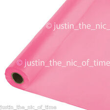 100ft BRIGHT PINK Plastic Buffet Banquet Roll Party Table Cover Tablecover