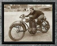 Classic... Maurice Fournier , 1903 Buchet Motorcycle . Antique 5X7 Photo Print
