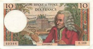 France 10 Francs 1965 P-147a XF+