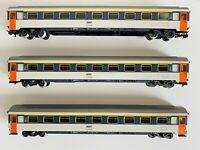 MARKLIN HO 3x 4161, carrozze passeggeri 1° Corail Eurofima SNCF
