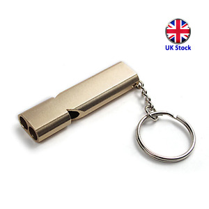Metal Survival Whistle - Super Loud 120dB Emergency Distress Whistle - UK Stock