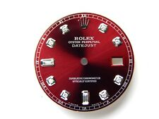 Rolex Mens Datejust S-SvRed Color Dial with 8+2 Baguette Diamonds Dial
