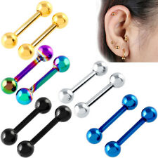5x Stainless Steel Barbell Ear Cartilage Tragus Helix Stud Bar Earring Piercing