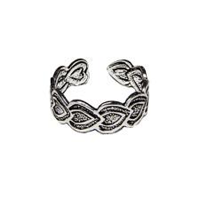 Toe Ring .925 silver girls adjustable open foot beach leaf feeanddave