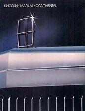 Lincoln 1983 USA Market Foldout Sales Brochure Town Car Continental Mark VI