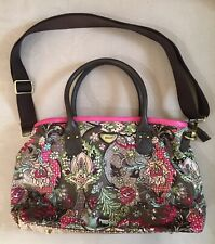 Oilily Nylon Satchel Handbag Purse With Crossbody Strap. New W/O Tags