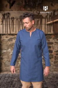 Moyen-âge Tunique Dessous sous-Vêtements Tunique Viking - Bleu De Burgschneider