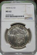 1878 CC Morgan Silver Dollar NGC MS 62