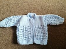 New Blue Hand Knitted Baby Cardigan