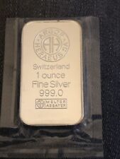 Silberbarren 1 Unze 999/1000 Feinsilber Argor Heraeus CH Silber PP Original