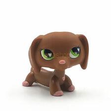 Littlest Pet Shop Spielsachen LPs braun Dackel Hund Welpe hellbraun grün Augen