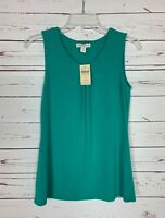 Coldwater Creek Women's XS Extra Small Teal Spring Sleeveless Top Tank NEW TAGS