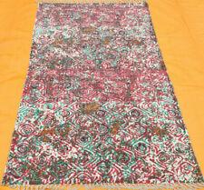 4x6 ft rug handmade indian block printed large floral beautiful floor rug runner