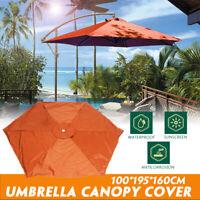 Outdoor Patio Umbrella Parasol Canopy Top Sunshade Cover Replacement Yard Garden
