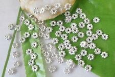 1000PCS Silver plated daisy spacer beads 4mm for jewelry making
