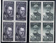 Bloque de cuatro sellos España 1953 Legazpi y Sorolla  1124/1125 Sellos nuevos