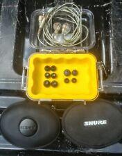 Shure SE535-CL Clear Ear Buds IEM Earphones Headphones w/ Extras In Ear Monitors