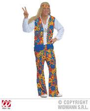 Hippy Kostüm für Männer Gr. XL  Hippie 70er Jahre Flower Power 70ties Gr. XL