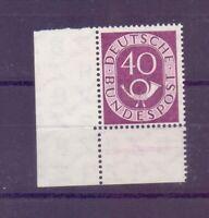 Bund 1951 - 40Pf. MiNr. 133 postfrisch** Eckrand geprüft - Michel 175,00 € (476)