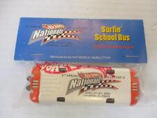 Hot Wheels 1st Nationals Convention Surfin' School Bus Orange Car NIP