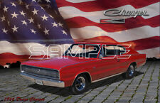 1966 Dodge Charger American Muscle Print