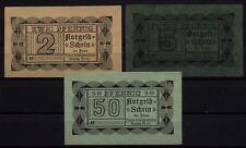 [16559] - 3 x NOTGELD Penzig O. - L, Tietze & Seidensticker, 2, 5 + 50 Pf, O. D.