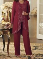 sz Large Anastasia Beaded Pant Suit wedding cruise formal wear Midnight Velvet