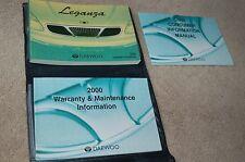 Owner's manual Set for 2000 Daewoo Leganza OEM SE SX CDX Part LE0OMM5ENA9H15000B