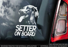 Irish Setter - Car Window Sticker - Dog Sign -V01