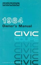 1984 Honda Civic Coupe Owners Manual User Guide Reference Operator Book Fuses